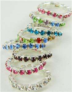 White/Red/Black/Blue/Teal/Purple/Green/Aqua/Pink Rhinestone Crystal