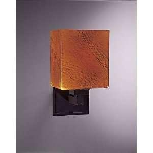 George Kovacs Amber Art Glass 11 3/4 High Wall Sconce