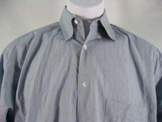 GIORGIO ARMANI Mens Blue Button Down Shirt Sz 32