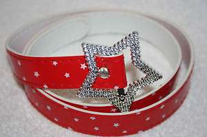 Girls Star Buckle Belts/w Designs