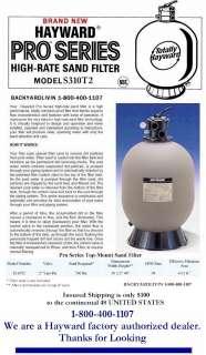 BRAND NEW Hayward S310T2 30 Swimming Pool Sand Filter