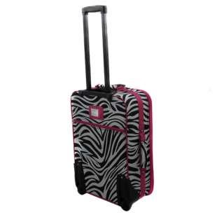 Pink Zebra Pattern Expandable 3 Piece Luggage Set $220