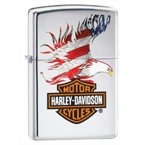 Zippo Harley Davidson Lighter With American Patriotic Eagle