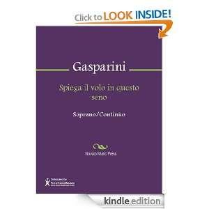 Spiega il volo in questo seno Sheet Music Francesco Gasparini