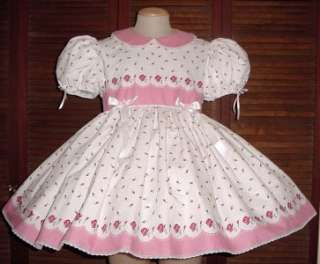 Adult Sissy Baby Dress Lovely Roses  by Annemarie