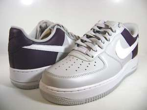 315122 050 NIKE MENS AIR FORCE 1 07 NEUTRAL GREY/ WINE