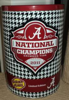 Alabama Crimson Tide National Championship 2011 Golden Flake Chips Can