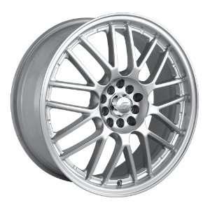 17x7 Sacchi S25 (225) (Hyper Silver w/ Machined Lip) Wheels/Rims 5x100