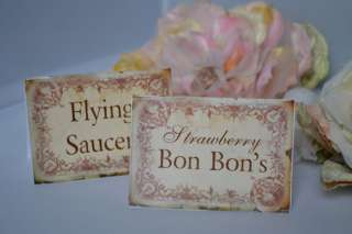 Candy Bar Buffet Labels, Tags, Sweet Names   Vintage
