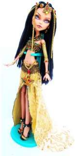 Monster High OOAK Cleo DeNile Egyptian Repaint Costume FULL Custom