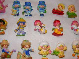 Vintage Strawberry Shortcake Mini PVC Figure 44 Pc Lot