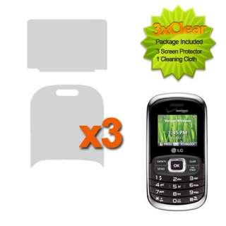 For LG VN530 Octane Verizon Phone 3x Three Pack LCD Film Guard Screen