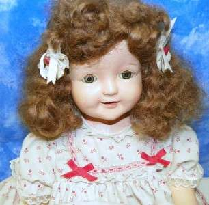 American Doll Co Character Petite Composition 24 Cloth Body Mohair