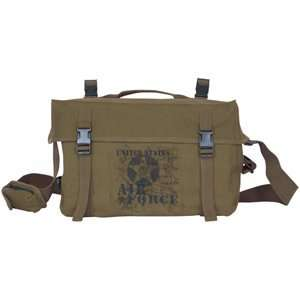 Olive Drab Vintage US Air Force Retro Cargo Shoulder Bag