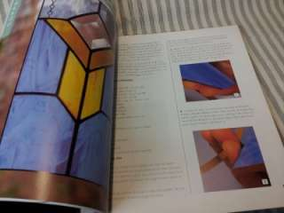 STAINED GLASS PATTERN BOOK, STAINED GLASS BASICS,TECHNIQUES,TOOLS