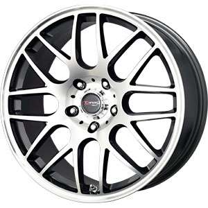 New 17X7.5 5 120 Drag Dr 37 Gunmetal Machined Face Wheels/Rims