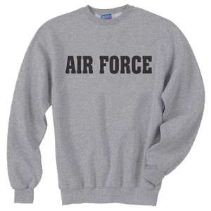 US United States Air Force USAF Grey Crewneck Sweatshirt Gray Pullover