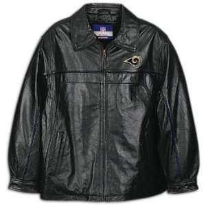 Rams Reebok Mens Leather Jacket: Sports & Outdoors