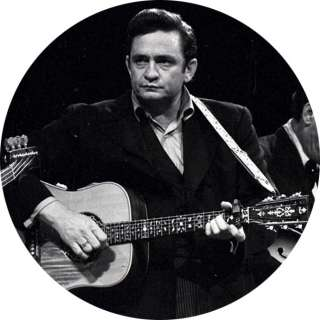 Johnny Cash   Button / Pin   Several Sizes Available