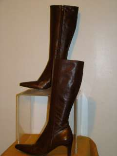 Enrico Antinori Brown Knee High Fashion Boots Size 37.5