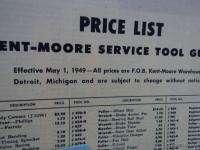1949 Kent Moore Mechanic Service Tool Catalog ORIGINAL