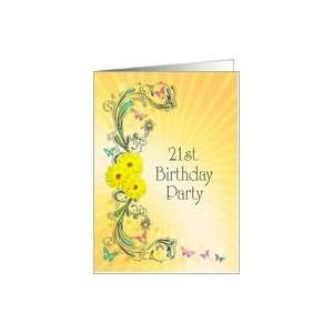 Invitation to a 21st Birthday party Card: Toys & Games