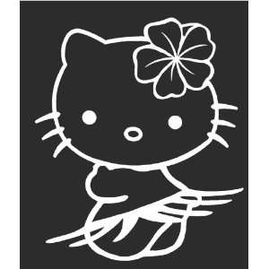 Hello Kitty Hawaii Sticker Decal White 5.5 Tall