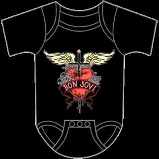 BON JOVI Heart Baby Romper Shirt NEW