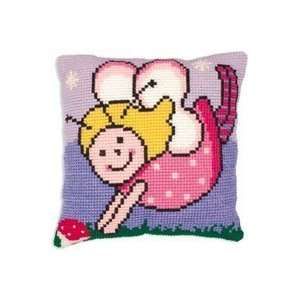 Fairy Twinkly Cushion Chunky Cross Stitch Kit 15 3/4x15 3