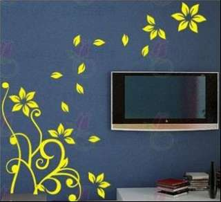 Lotus Flower DIY Decor Mural Wall Paper Sticker 021