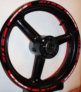 MOTORCYCLE CAR RIM STRIPES WHEEL DECAL TAPE STICKER
