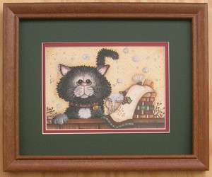 Cats Bathroom Decor Art For Interior Home Decor Framed Country Picture