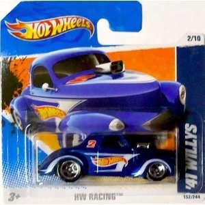 2011 Hot Wheels 41 WILLYS (Blue w/Logo) #152/244, HW Racing #2/10