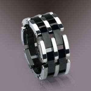 TUNGSTEN CARBIDE RING BLACK HIGH TECH CERAMIC R&B TYPE