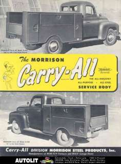 1952 Ford Dodge Pickup Morrison Truck Body Brochure