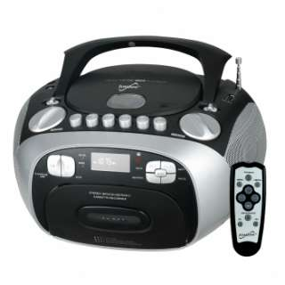 CD MP3 PLAYER CASSETTE RECORDER PORTABLE BOOMBOX AM/FM RADIO w/ USB AC
