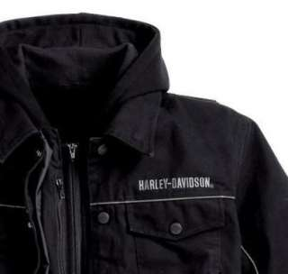 NWT Harley Davidson Mens Throttle 3 in 1 Functional Jacket 98217 10vm
