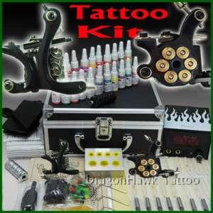 Complete Tattoo Kit 2 Top Machine Gun Ink Power Set D59