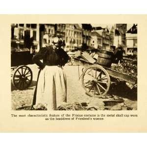 1912 Print Friesland Holland Netherlands Cultural Fashion
