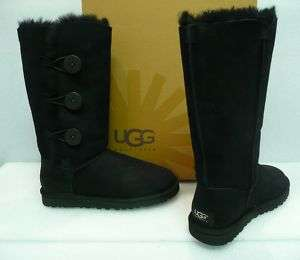 Ugg Bailey triplet tall boots black suede New In Box