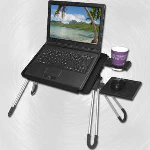 Laptop Buddy Portable Laptop Table Black or Grey NEW