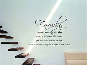 22 x 16 Family Like The Branches Of a Tree Vinyl Wall Decal