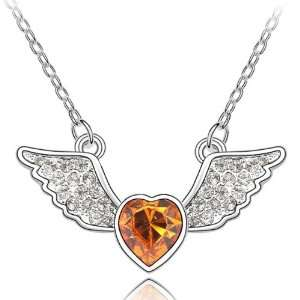 Angel Heart 18k Gold Plated Heart Shaped Swarovski Crystal