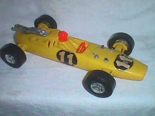 Race Car Toy from Aurora, IL is offered as shown with some wear