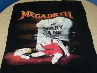 MEGADETH   RIP MARY JANE Vtg 1988 Heavy Metal T Shirt M