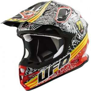 UFO WARRIOR H1 EAGLE MX DIRT MOTOCROSS HELMET BLACK/YELLOW