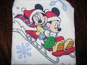 Mickey Mouse sled christmas handmade fabric coin/change purse