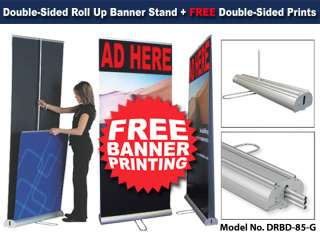 Trade Show Display Pop Roll Up Banner Stand Double Side