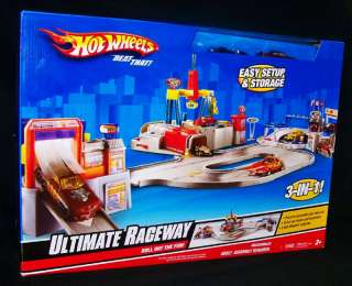 Hot Wheels Ultimate Raceway 2 Cars Play Set Race Track 3 In 1 Ages 3