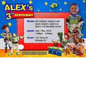 Toy Story Invitation   20 Custom Personalized Birthday Party Invites